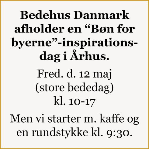 Bøn for byerne Aarhus 2017