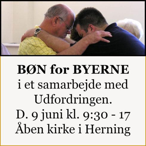 bøn for byerne 9 juni 2018